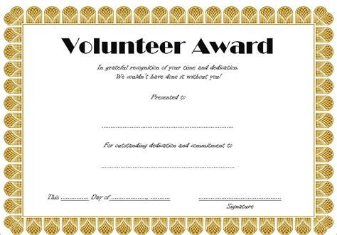 volunteering certificates free for you volunteer certificate