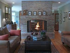 small family room idea with fireplace modern family room