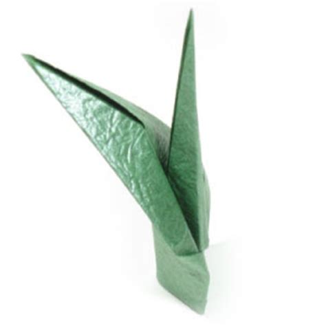 Flower Stem Origami - how to make a traditional origami stem page 1