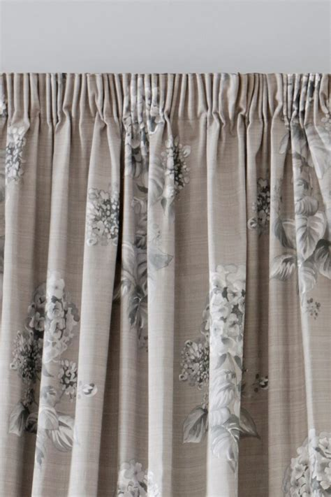 next pencil pleat curtains buy elegant hydrangea print pencil pleat curtains from the