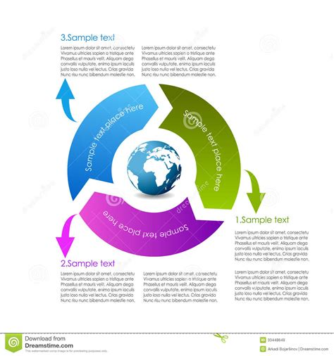 typography diagram cycle diagram royalty free stock images image 33448649