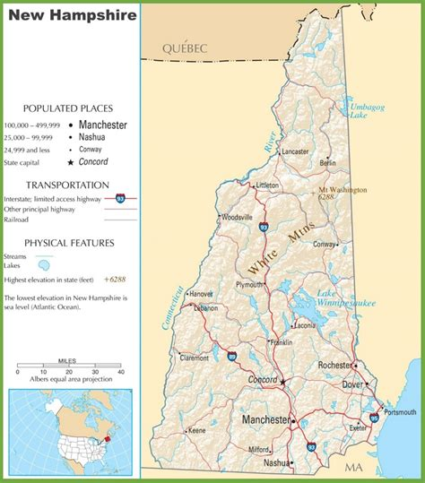 map usa showing new hshire map usa showing new hshire 28 images new hshire road