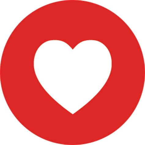 facebook red love heart png #44005 free icons and png