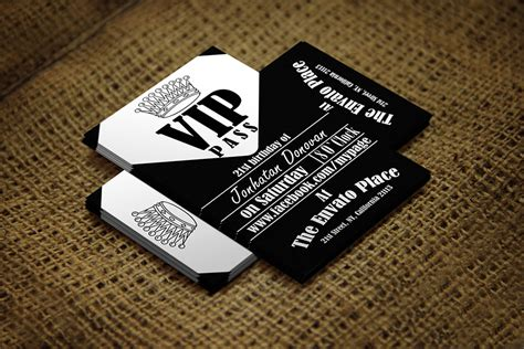 pass card template retro vip pass card card templates on creative market