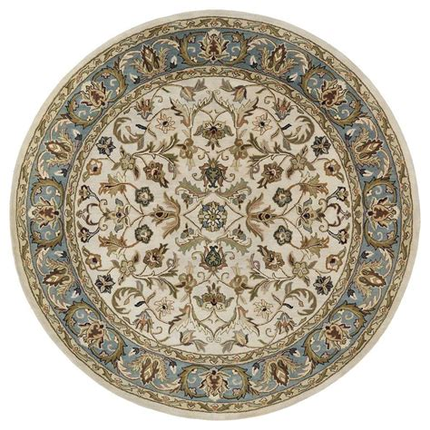 Kaleen Mystic William Ivory 7 Ft 9 In X 7 Ft 9 In 9 Foot Rugs