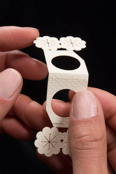 Cool Ways To Fold Paper Into A Card - greeting cards that fold into wearable paper rings all