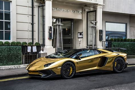gold chrome lamborghini chrome gold lamborghini aventador sv roadster how to ruin