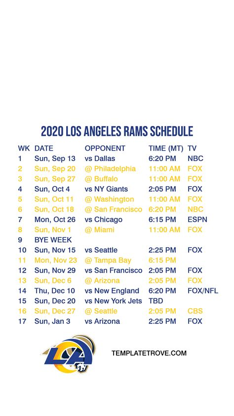 los angeles rams lock screen schedule  iphone