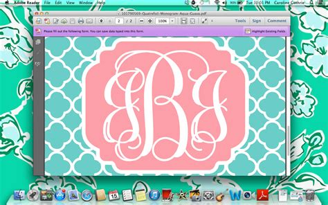 computer wallpaper monogram create monogrammed iphone wallpapers in 10 easy steps