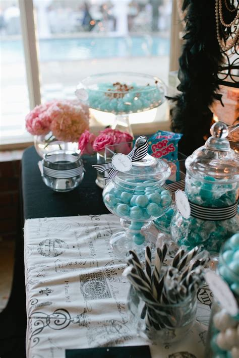 Dy Table Tiffany Blue White And Black Paris  Ee  Sweet Ee
