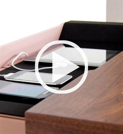 stage interactive wall shelf works as a charging station stage interactive shelf walnut spell