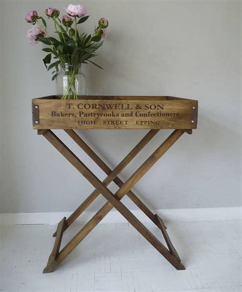 wood tv table trays wooden butler s tray table by cooper rowe vintage living