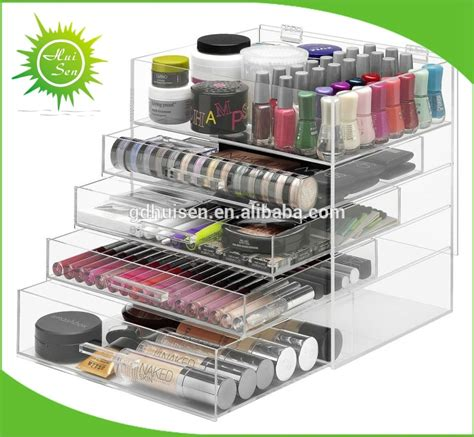 large acrylic makeup storage drawers large acrylic makeup organizer with drawers cosmetic
