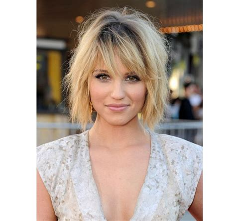 mussy bob cuts for pictures glee beauty battle dianna lea get shaggy tousled