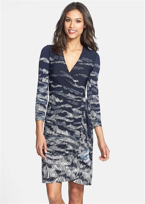Dress Of The Day Printed Matte Jersey Wrap Dress by Bcbg Max Azria Bcbgmaxazria Landscape Print Matte Jersey