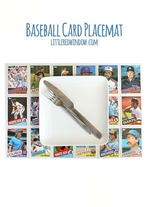 make a baseball card diy baseball card placemat window