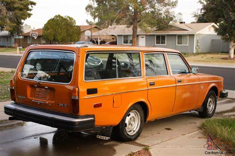 station wagon volvo 1976 volvo 245 dl station wagon orange