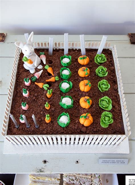 Vegetable Garden Cake Rabbit Vegetable Garden Cake For The Of George