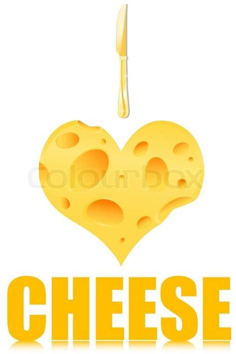 illustration   love cheese   stock vector