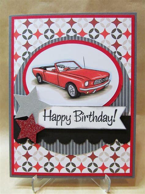 Car Birthday Cards For Savvy Handmade Cards Classic Car Birthday Card