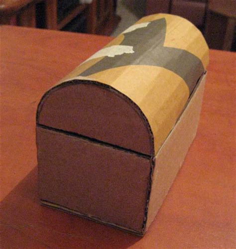 how to make a treasure box or jewelry box from cardboard