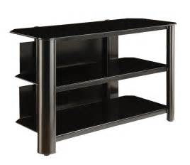 black tv stands innovex black glass tv stand tpt42g29