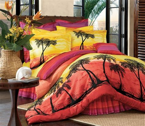 picture of tropical sunset comforter sets images nation