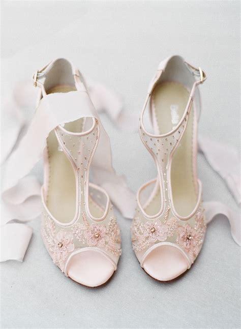 Wedding Shoes Embellished by Pink Embellished Stilettos Bridal Shoes For Blush