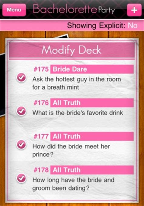 Or Questions Clean Bachelorette Silvertree Technology