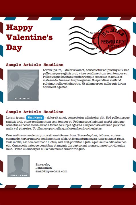 valentines newsletter template new email templates for our valentines you email