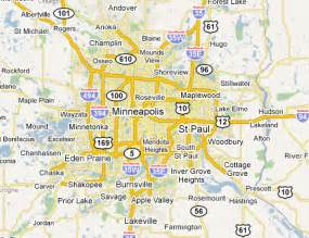 Twin Cities Metro Map by Twin Cities Metro Area Web Design Amp Development Firms On
