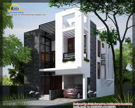modern home designs plans modern contemporary home 1450 sq ft kerala home
