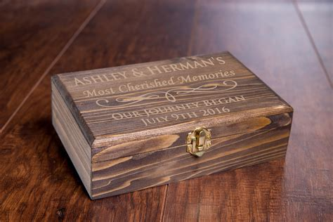 Handmade Decorative Boxes - custom memory box small rustic wooden keepsake box
