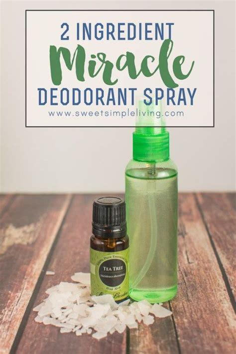 2 ingredient miracle deodorant spray simple essential