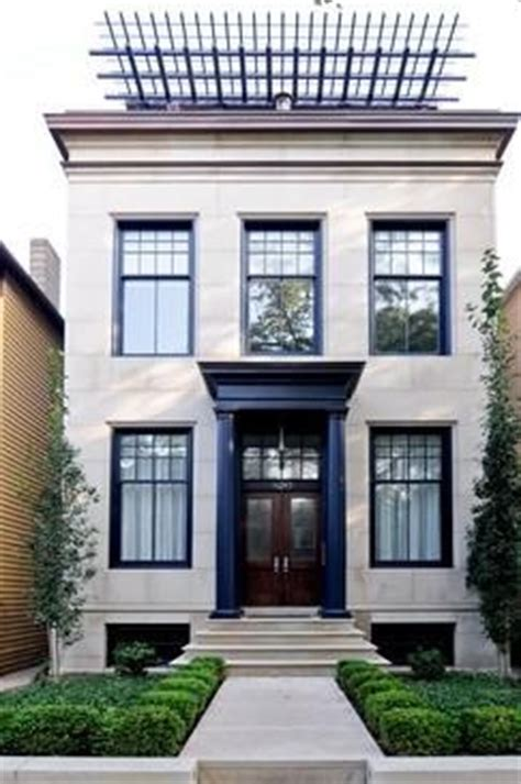 white house with black trim sharp black trim on white stucco architecture