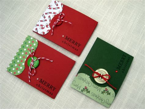 Handmade Christmas Gift Cards - pin by linda sauzier on handmade christmas button cards pinterest