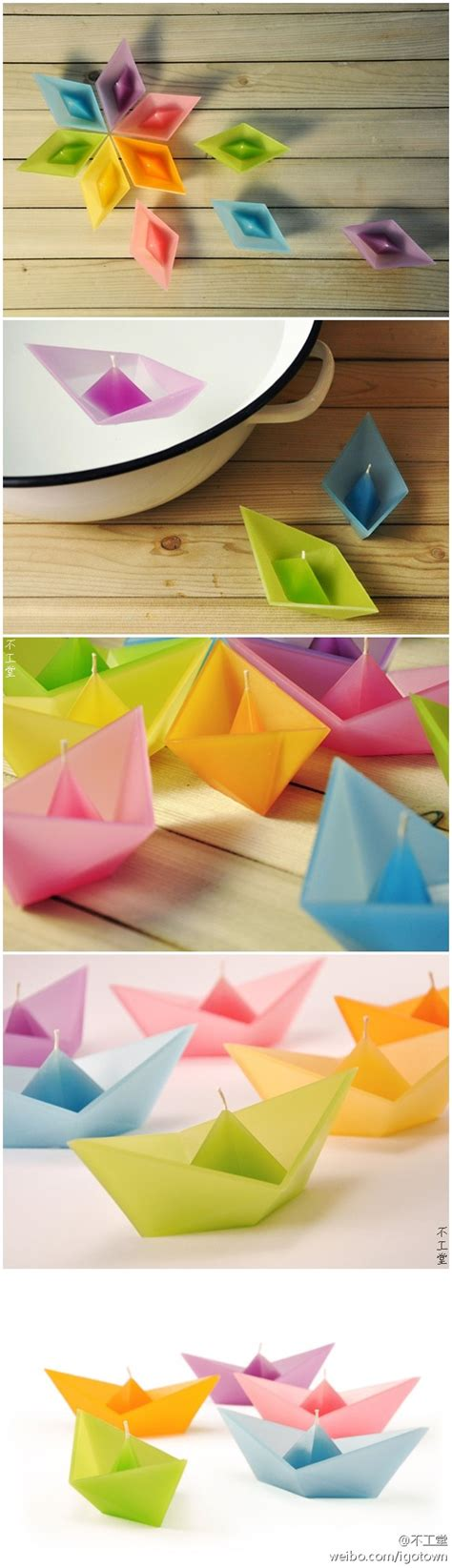 Origami Boat Candles - pin by wendy hathaway on ls lanterns lighting