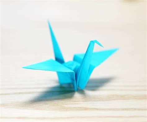 Folded Paper Crane - how to make a paper crane 16 steps with pictures