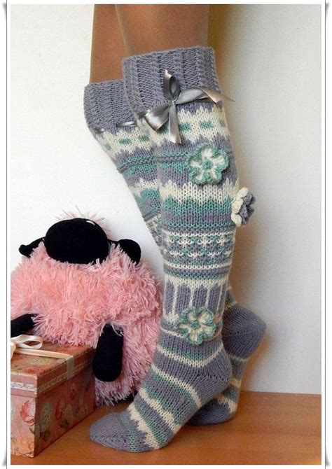 pattern for knee high socks with flowers 17 best images about crochet socks on pinterest free