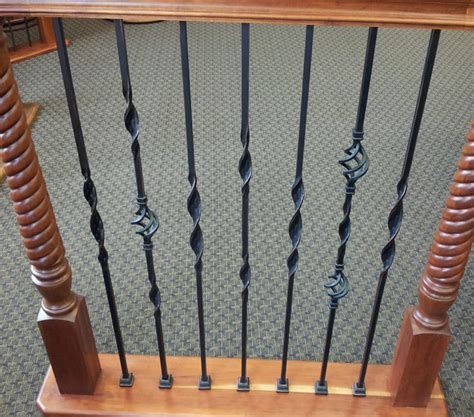 Livingroom End Tables Ribbon Twisted Iron Balusters Traditional Houston By