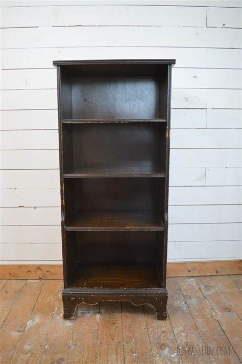 bookcase makeover with driftwood planks furniture