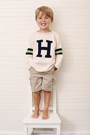 Pink Two Color Sweater Kk406 monogrammed child s sweater two color stripes on sleeves
