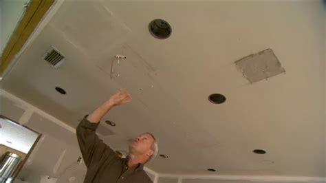 how to install recessed lighting in an existing ceiling