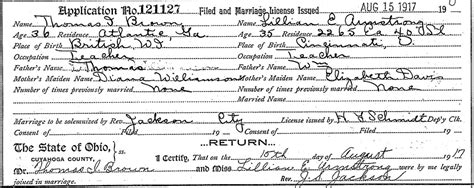 Jamaica Marriage Records I Brown
