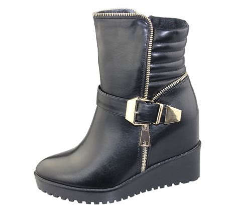Wedge Heel Ankle Boots womens wedge heel ankle boots chelsea buckle high