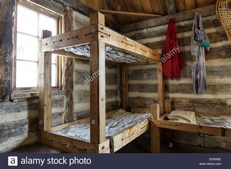 Log Cabin Bunk Beds Rustic Bunk Beds And Living Quarters Of A Fur Trade Era Log Cabin At Stock Photo 81043114 Alamy