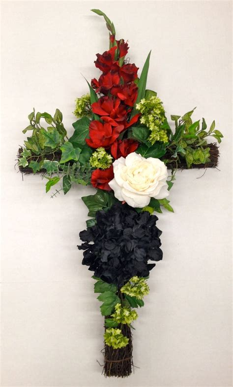 165 best cross arrangement images on pinterest funeral