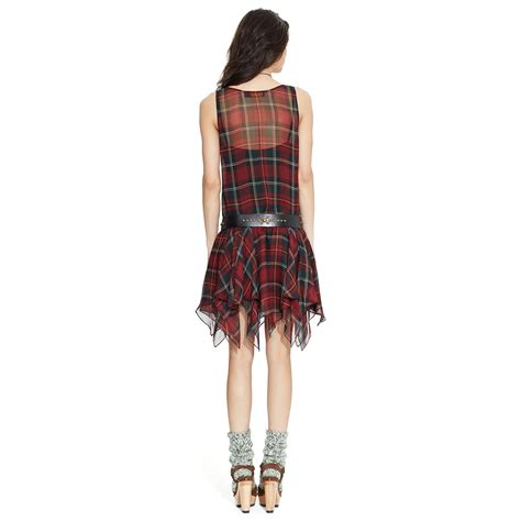 Ragheeda Tartan Sleeveless Mini Dress polo ralph silk tartan sleeveless dress in