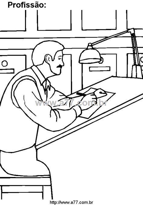 Desenho Para Colorir Tema: Trabalho Remunerado. Profissão