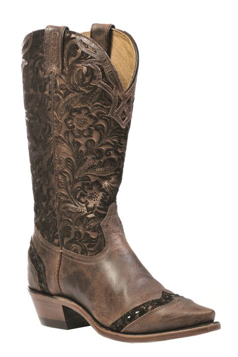 boulet boots boulet ladies cowboy western leather boots selvaggio wood
